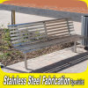 Keenhai OEMデザイン屋外のステンレス鋼の金属の庭のベンチ