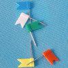 Il regalo ha colorato la cancelleria di plastica di Pin di spinta della bandierina (QX-HP001) 18*32mm