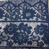 Blaue Baumwollafrikanisches Häkelarbeit-Spitze-Gewebe