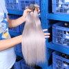 O cabelo humano cinzento brasileiro reto brasileiro cinzento de cabelo 100% do cabelo do Virgin do Weave 7A Brazillian do cabelo em linha reta Sew no Weave
