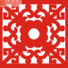 China's Traditional Red Engraved Aluminum Panel