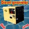 SGS trifásico Approved de la ISO BV del CE de 5kw/5.5kVA Air Cooled Diesel Silent Generator