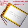 3570100pl 4000mAh 3.7 Vのリチウムポリマー電池