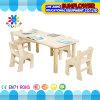Tabela de crianças em madeira para mesa pré-escolar para 6 crianças