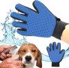 Перевозчик волос собаки любимчика холя массаж перчатки Deshedding купая щетку