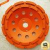 Segmento Double Row Cup Grinding Wheel para Concrete, Masonry, Stone,