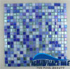 Dunkelblaues 15X15mm Swimming Pool Melting Glass Mosaic Tile (BGC006)