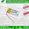 301020 batterie rechargeable de petit polymère de lithium de 30mAh 3.7V pour l'écouteur de Bluetooth