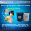 Alimento Grade Addition Cure Silicone Rubber para Artificial Pennis
