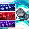 iluminación del disco de la IGUALDAD de 54*3W RGBW LED