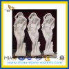 Polished bianco Honed Marble Stone Sculpture per il giardino