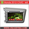 Honda 2012년을%s A9 CPU를 가진 Pure Android 4.4 Car DVD Player를 위한 차 DVD Player Capacitive Touch Screen GPS Bluetooth Civic Left (AD-8106)