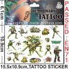 Tatuagem impermeável Sticker de Removable Non-Toxic Kids (cg076)
