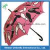 Зонтик женщин повелительниц Staight печатание способа автоматический открытый