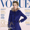 Revestimento azul de 2013 mulheres do colar do Raccoon da forma nova do inverno da chegada (1-39909)