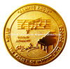 Kundenspezifische glänzendes Gold überzogene Münze der Herausforderungs-3D