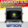 Witson Android 4.4 Car DVD para Toyota Alphard com A9 o Internet DVR Support da ROM WiFi 3G do chipset 1080P 8g