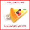Movimentação do flash do USB da pizza dos desenhos animados do USB Pendrive do alimento