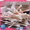Bâtons en bois médicaux stériles remplaçables de tampon de coton de sûreté