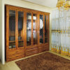 Oppein Custom Brown Wooden Wardrobe mit Glass (OPY09-30)