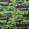 Tessuto fluorescente del ricamo della maglia del Sequin di verde 3mm