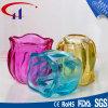 Suporte de vela de vidro de Tealight da forma colorida do cilindro (CHZ8003)