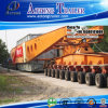 Reboque modular do transportador de Lowbed 200ton da linha central da direção para Equador