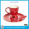 Griglia stabilita della fonduta della tazza di ceramica rossa