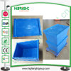 Logistischer Verschachtelungs-Umsatztote-Plastikkasten mit Transportwagen