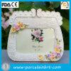 Decoração delicada dos frames de retrato da bolsa da cena do jardim