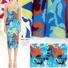 Tessuto Stretchable di stampa del fiore di Soft& per gli indumenti delle signore
