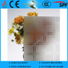 3-8mm Clear Rh-2 Acid Etched Patterned Figured Glass mit CER u. ISO9001