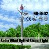 24V 105ahのリチウム電池が付いている新式の太陽風のハイブリッド街灯