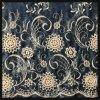 Cordón tejido Atar-Teñido del bordado del poliester del cordón del bordado del remache del color de los pantalones vaqueros del cordón del bordado