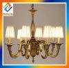 Lampe en cristal faite sur commande de lustre de projet pour la salle de séjour