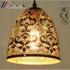 Ouro oco do Ornamentation da flor e iluminação redonda do pendente com hotel