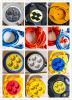 De Contactdoos van Schuko en de Kabel van de Spoel Uitbreiding van de Van de EEG van de Stop