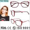 Frame Titanium vermelho de Eyewear do frame ótico do desenhador para mulheres