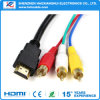 OEM 1.4V HDMI van de hoge snelheid aan 3RCA Kabel voor Multimedia