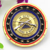 다이아몬드 가장자리 디자인을%s 가진 주문을 받아서 만들어진 명예 기념품 동전