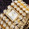 Relojes ocasionales del cuarzo del reloj de la pulsera de las mujeres de la manera