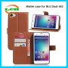 Mappen-Flipkarten-Schlitz-Telefon-Kasten für blauen Gedankenstrich M2