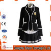 Alti uniformi scolastichi britannici neri di Three-Piece (Jacket+Pants/Skirt+Shirt)
