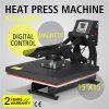 15 máquina magnética de la sublimación del automóvil de  X 15  de la camiseta de la prensa abierta semiautomática del traspaso térmico