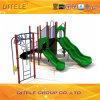 89mm galvanisierter Pfosten-bunter Einfachheits-Hülse-Bergsteiger und doppelte Wellen-Plättchen-Kind-im Freienspielplatz-Gerät