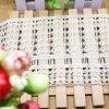 Merletto di nylon di immaginazione della guarnizione del ricamo del poliestere del merletto del commercio all'ingrosso 12cm della fabbrica del ricamo di riserva di larghezza per l'accessorio degli indumenti & tessile & tende domestiche