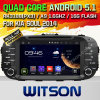Carro DVD do Android 5.1 de Witson para a alma 2014 de KIA (W2-A7006) com sustentação do Internet DVR da ROM WiFi 3G do chipset 1080P 8g