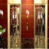 304 chapa de aço inoxidável da cor do ouro PVD para a decoração do elevador