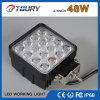 48W luz de trabajo campo a través cuadrada de la lámpara del automóvil LED