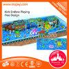 Campo de jogos macio interno da área de jogo das crianças do projeto do oceano